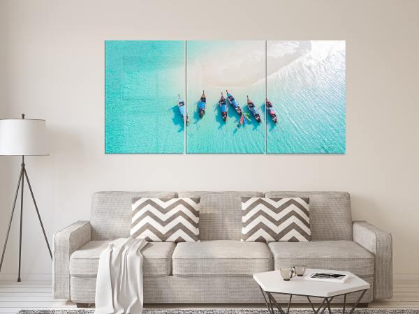 תמונת זכוכית של 5 סירות ממבט על