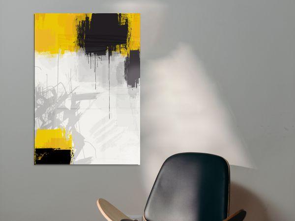 תמונת זכוכית של אבסטרקט צהוב