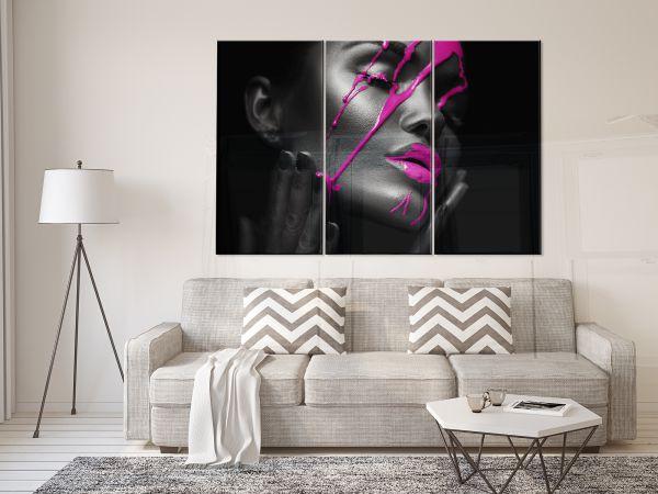 תמונת זכוכית של אפריקאית סגולה