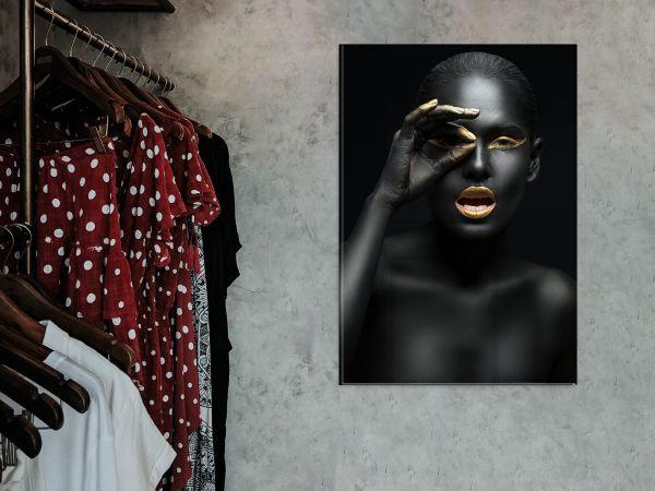 תמונת זכוכית של אשה אפריקאית 2