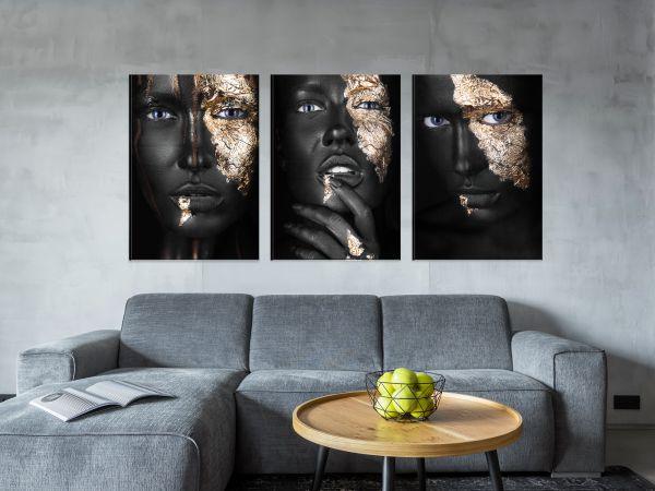 תמונת זכוכית של אשה אפריקאית סט 2