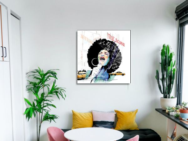 תמונת זכוכית של זמרת אפריקאית 4