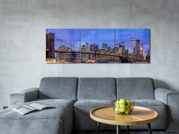תמונת זכוכית של גשר ברוקלין