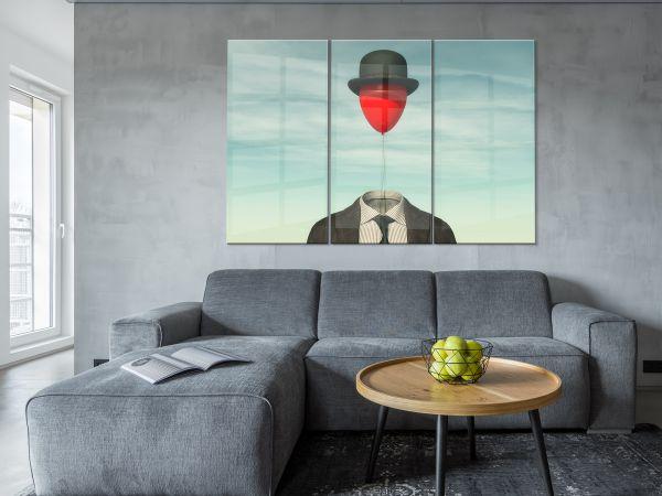 תמונת זכוכית של איש בלון