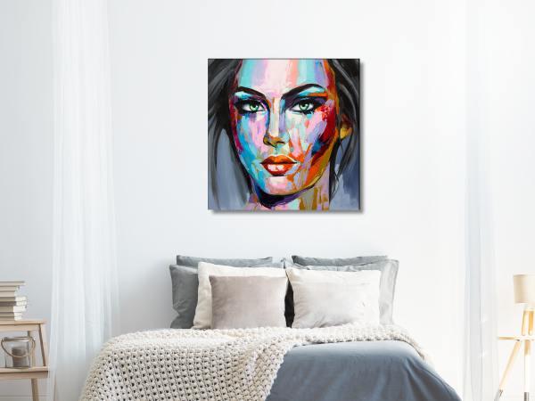תמונת זכוכית של אשה צבעונית 3