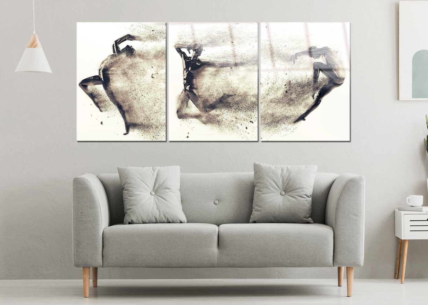 תמונת זכוכית של סט רקדני חול