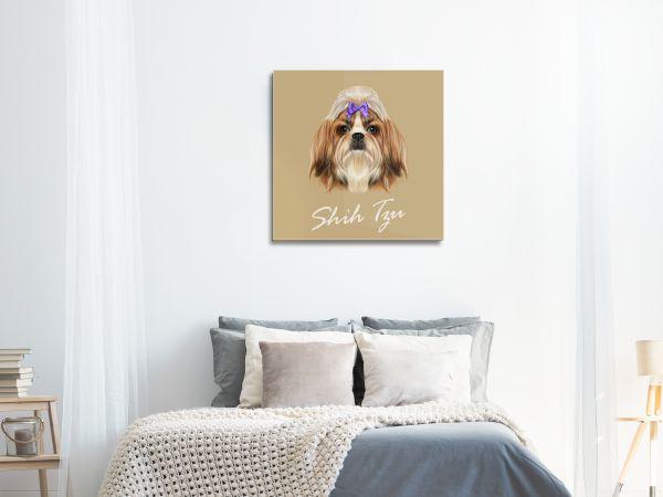 תמונת זכוכית של כלב מצוייר