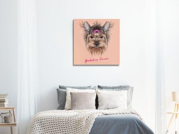 תמונת זכוכית של כלב מצוייר 4
