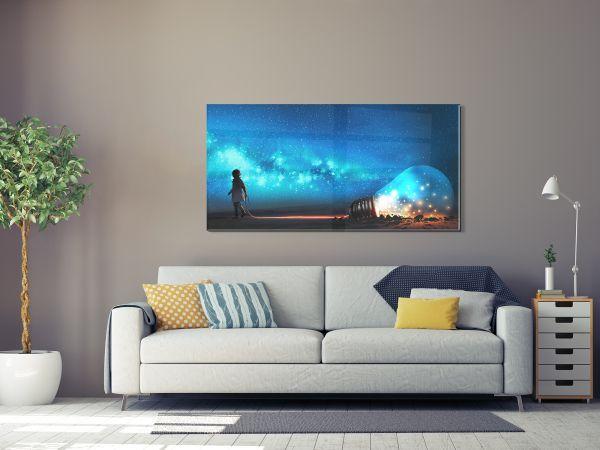 תמונת זכוכית של חלום כחול