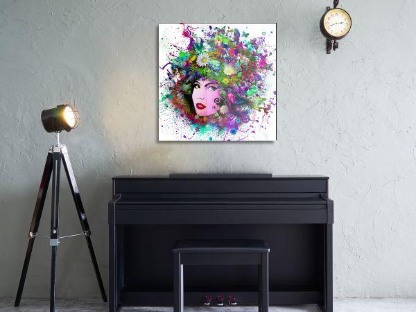תמונת זכוכית של אפרו פרחים