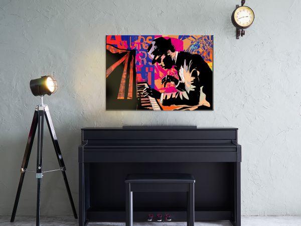 תמונת זכוכית של פסנתרן ג'אז 2