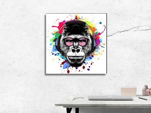 תמונת זכוכית של קוף פופ ארט
