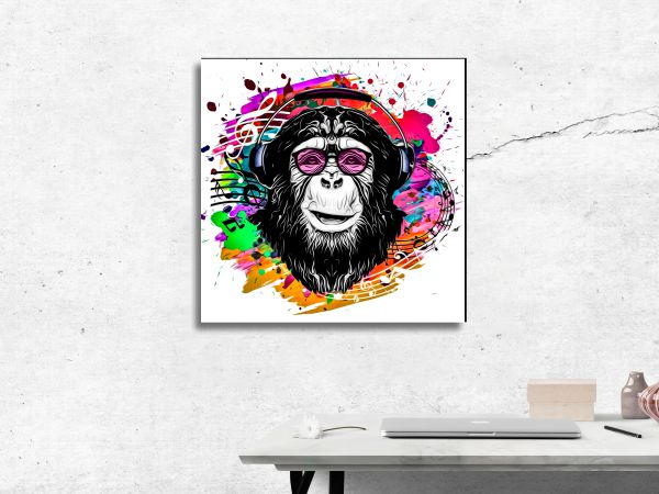 תמונת זכוכית של קוף פופ ארט 2