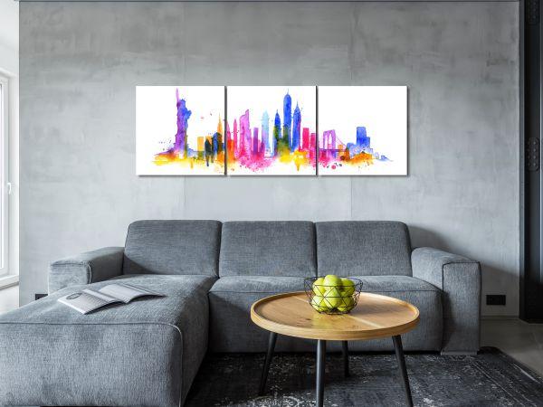 תמונת זכוכית של ניו יורק מצויירת