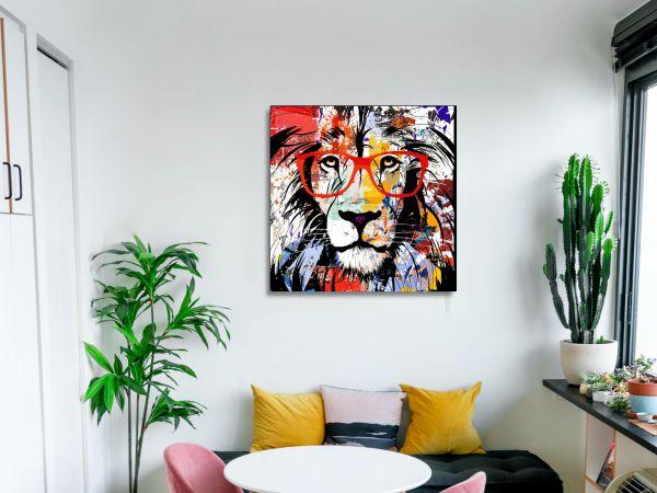 תמונת זכוכית של אריה פופ ארט