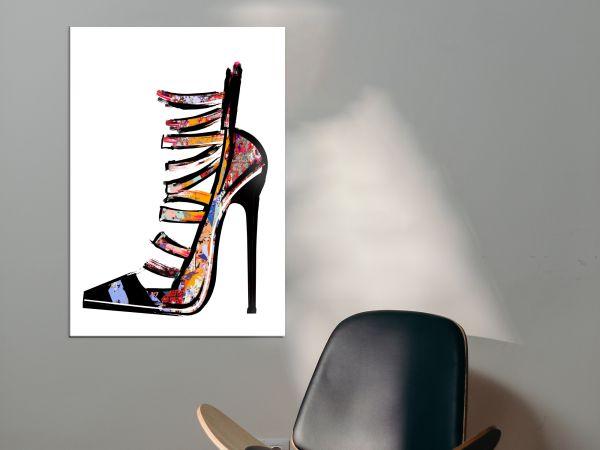 תמונת זכוכית של נעל פופ ארט