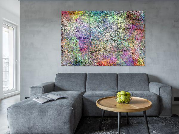 תמונת זכוכית של אבסטרקט שמן