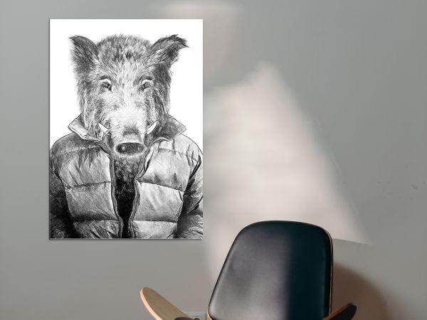 תמונת זכוכית של איש חזיר